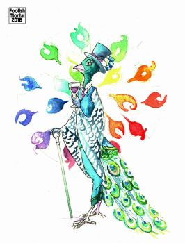 Gentleman Peacock by lissa-quon