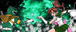 Green vs. Sailor Jupiter by FlyingPrincess