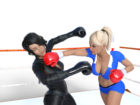 Nadine vs Natsuko 3 by Erazer941 by WaifuWars