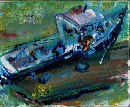 Lobster Boat- LProctor by LaurieLefebvre