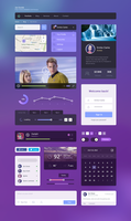 Free Flat UI Kit by Honya