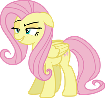 Fluttershy (cheeky smile vector) by davidsfire