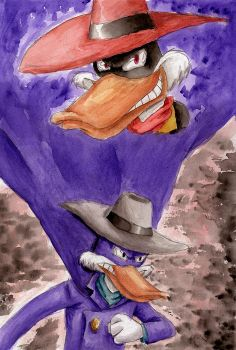 BA S04B06 - Darkwing Duck [watercolor] by Blader3000