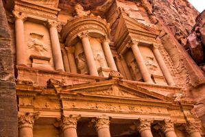 Details in Petra treasury by ShlomitMessica