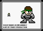 Solid Snake as megaman 2 style by TRADT-PRODUCTION