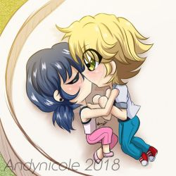 .:Chibi -- Adrinette [miraculous fanart]:. by Andynicole