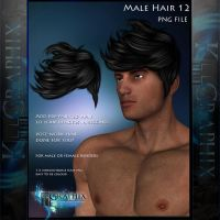 Male Hair 12 Painted Instant hair PNG add on stock by MakeMeMagical
