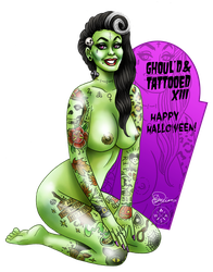 Nude and Tattooed XIII (Ghoul'd and Tattooed) by CitizenWolfie