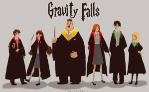 Hogwarts Falls by CHESSMILY