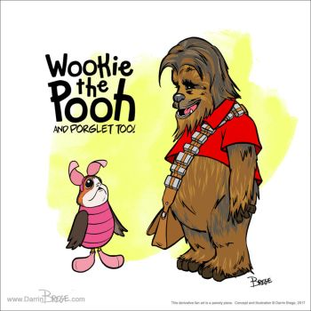 Wookie the Pooh, and PORGlet too! by darrinbrege