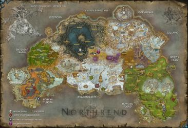 Northrend World Map by rsholtis