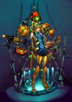 Samus Aran Suit Repairs by Cloud-07