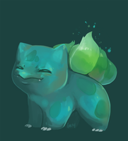 Bulbasaur speedpaint by bylacey