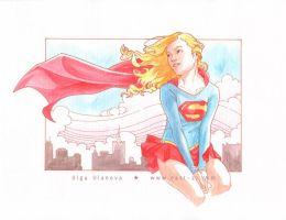 Supergirl art deco by OlgaUlanova