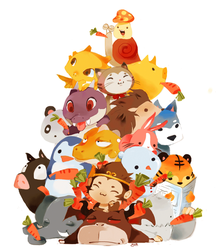 Maplestory Pet Pile by Pochi-mochi