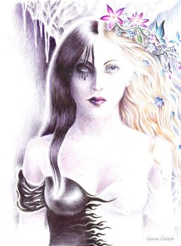 Kore or Persephone two faces of a goddess by CORinAZONe