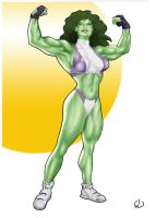 Smug She-Hulk by yatz
