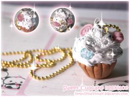 Sweet Cupcake Necklace by Fluffntuff