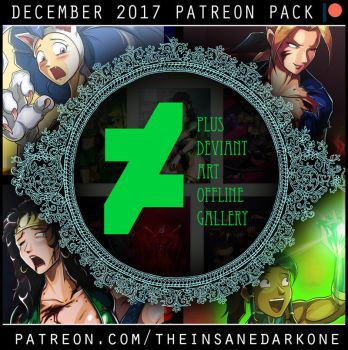 Patreon December 2017 art pack now available! by TheInsaneDarkOne
