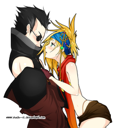 COMMISSION - Auron x Rikku by Rush--it