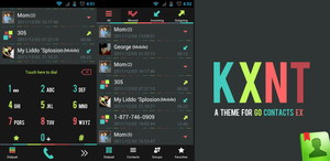 Go Contacts Ex Color Minimal Theme by kantbstopped519