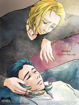 Thorloki : Brother,I'll never lose you by sayder-S