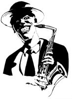 Joker with saxophone by STH-pl
