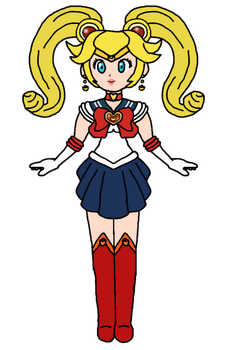 Peach - Sailor Venus disguised as Moon by KatLime