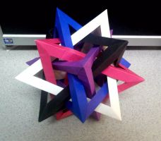 Winter 5 Intersecting Tetrahedron 2 by TheOrigamiArchitect