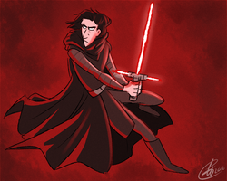 Star Wars TFA // Kylo Ren by xxiiCoko