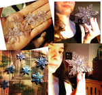 Elsa's icy snowflakes (W.I.P) by WinterRadiance