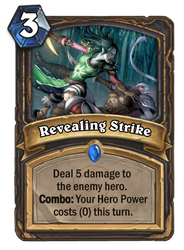 Hearthstone card concept - Revealing Strike by SnowingGnat