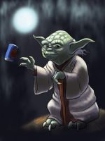 Master Yoda Grabbing a Cold One  by moviedragon009v2