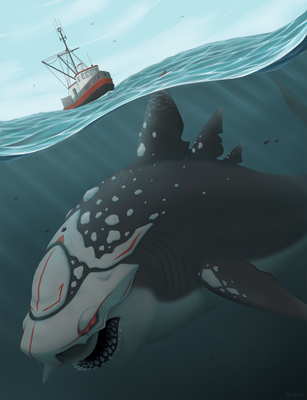 Megalodon Grimm by mirzers