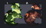 Dragon Hatchling Auction [0/2][CLOSED] by TheAdoptArtist