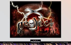 X-PROJECT concert banner by R1Design