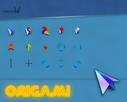Origami-cursors by tchiro