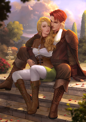 Commission : Liliana and Feirdon by IndahAlditha