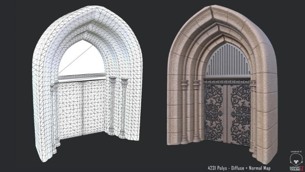 Castle Entrance - In-Game Model by 3DPad