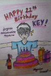 Happy birthday Key! by RyuuseiHikari