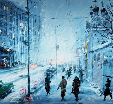 Speedpaint: Moscow Winter by Prasa