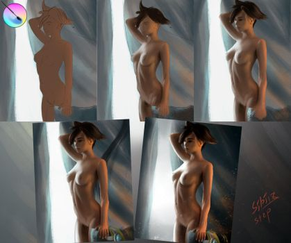 (Step-by-step) Tracer (fast painting) by SIBIROK