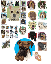 Pop Pet Portraits by cameoanderson