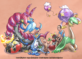 I AND MY POKEMON TEAM by Meg4mente