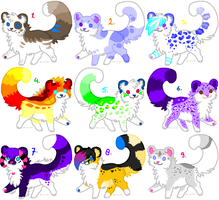 Big Batch of Adoptables - CLOSED - by PoonieFox