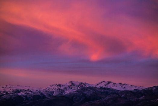 colors on the white mountains by dresdenblue
