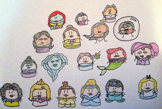 disney princesses-circle form by 1likeme