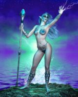 Goddess of Sea and Storm by RavenMoonDesigns