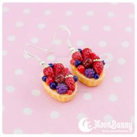 Berry cake Earrings by CuteMoonbunny