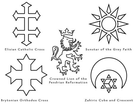 The World of Aeran - Religious Symbols by ZenithComics